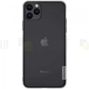 Apple iPhone 11 Pro Max Nillkin Nature plonas pilkas (permatomas) silikoninis TPU dėklas