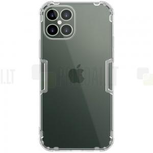 Apple iPhone 12 Pro Max Nillkin Nature plonas skaidrus (permatomas) silikoninis TPU bespalvis dėklas