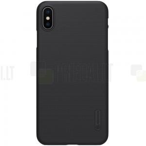 Nillkin Frosted Shield Apple iPhone Xs Max juodas plastikinis dėklas