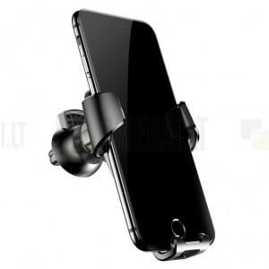 """""""Baseus"""" Gravity automobilinis telefono laikiklis (į groteles) - juodas"""