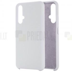 Huawei Honor 20 (Nova 5T) Shell kieto silikono TPU baltas dėklas - nugarėlė