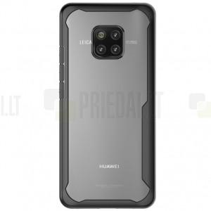 Huawei Mate 20 Pro Cocose skaidrus juodos spalvos apvadais kieto silikono (TPU) dėklas