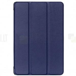 Huawei MediaPad M5 Lite 10 atverčiamas mėlynas odinis dėklas - knygutė