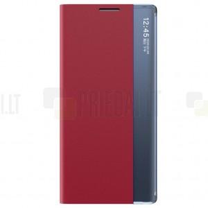 Huawei P smart 2021 View Line raudonas atverčiamas dėklas - knygutė