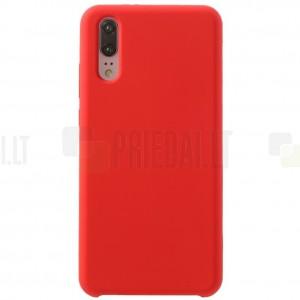 Huawei P20 Shell kieto silikono (TPU) raudonas juodas - nugarėlė