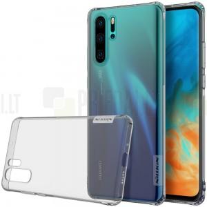Huawei P30 Pro Nillkin Nature plonas pilkas (permatomas) silikoninis TPU bespalvis dėklas