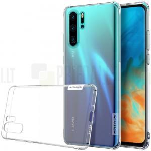 Huawei P30 Pro Nillkin Nature plonas skaidrus (permatomas) silikoninis TPU bespalvis dėklas