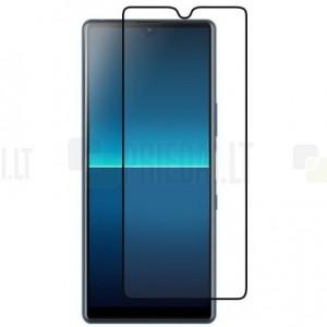 """Sony Xperia L4 """"Imak"""" 9H Tempered Glass sustiprintos apsaugos juodas pilnai dengiantis apsauginis ekrano stiklas 0,26 mm"""