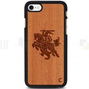 """Apple iPhone 7 (iPhone 8) """"Crafted Cover"""" Vytis natūralaus medžio dėklas (šviesus medis)"""
