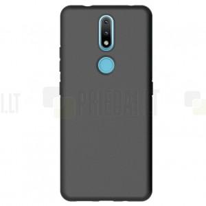Nokia 2.4 juodas kieto silikono TPU ploniausias pasaulyje dėklas - nugarėlė