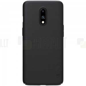 Nillkin Frosted Shield OnePlus 7 (OnePlus Seven) juodas plastikinis dėklas