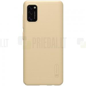 """Samsung Galaxy A41 """"Nillkin"""" Frosted Shield auksinis plastikinis dėklas, nugarėlė"""