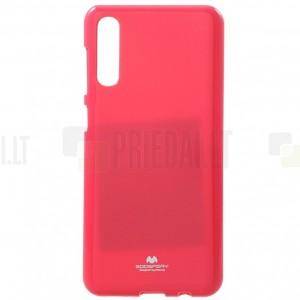 Samsung Galaxy A50 (A505F) Mercury tamsiai rožinis kieto silikono (TPU) dėklas