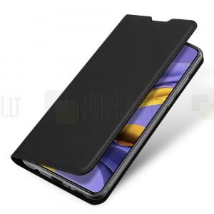 Dux Ducis Skin serijos Samsung Galaxy A71 (A715F) juodas odinis atverčiamas dėklas9