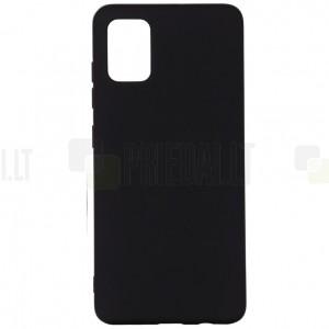 Samsung Galaxy A71 (A715F) Shell kieto silikono TPU juodas dėklas - nugarėlė