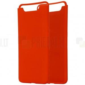 Samsung Galaxy A80 (A805F) Shell kieto silikono TPU raudonas dėklas - nugarėlė