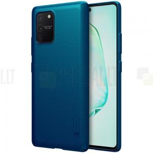 Samsung Galaxy S10 Lite (G970) Nillkin Frosted Shield mėlynas plastikinis dėklas