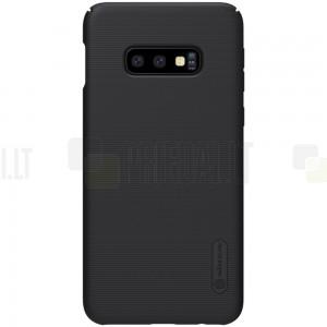 Samsung Galaxy S10e (G970) Nillkin Frosted Shield juodas plastikinis dėklas