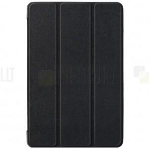 Samsung Galaxy Tab S5e (T720, T725) atverčiamas juodas odinis dėklas - knygutė (sulankstomas)