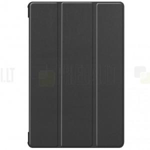 Samsung Galaxy Tab S6 10,5 T865 (T860) atverčiamas juodas odinis dėklas - knygutė (sulankstomas)