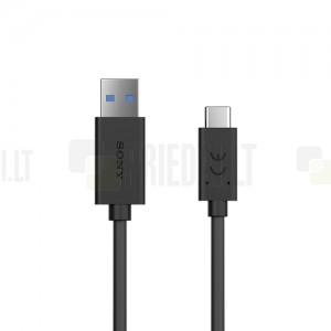 "Oficialus ""Sony"" Fast Charging Type-C USB raudonas laidas 0,95 m (UCB30, originalus)"