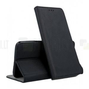 """Sony Xperia 5 """"Shell"""" serijos juodas odinis atverčiamas dėklas - knygutė"""