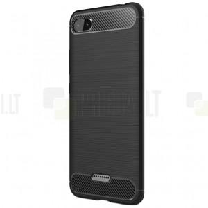 """Xiaomi Redmi 6A """"Carbon"""" kieto silikono TPU juodas dėklas - nugarėlė"""