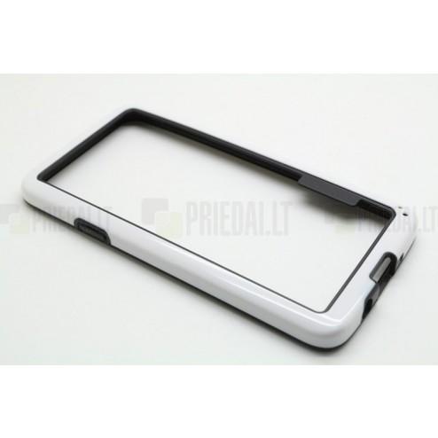 Baltas klasikinis Samsung Galaxy A3 TPU rėmelis - kraštų apvadas (bamperis)