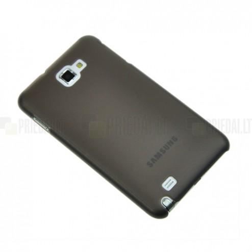Tamsintas - skaidrus Samsung Galaxy Note dėklas