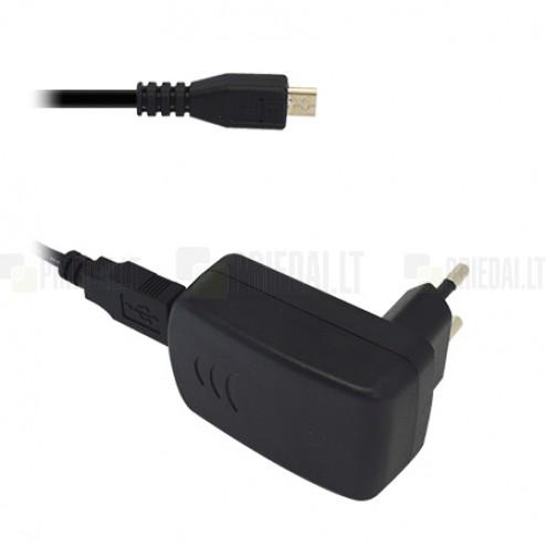 """Originalus """"Alcatel"""" CBA3000 juodas kelioninis (sieninis) įkroviklis (EU) su micro USB laidu"""