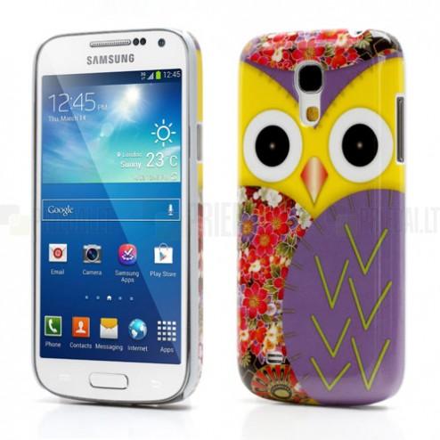 Samsung Galaxy S4 Mini dėklas - Pelėdžiukas, violetinis