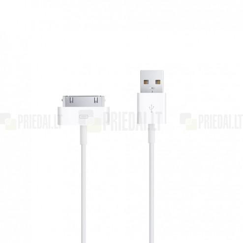 Apple 30-pin USB baltas laidas skirtas iPhone 4, 4S, iPad, iPad mini, iPod (MFi sertifikatas) MA591G
