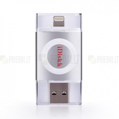"""iDiskk"" Lightning USB 3.0 Flash Drive sidabrinė 32 Gb atmintinė"