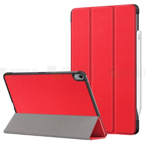"""Apple iPad Air 4 10.9"""" (2020) atverčiamas raudonas dėklas - knygutė"""
