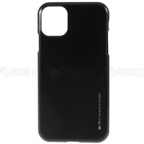 Apple iPhone 11 Mercury juodas kieto silikono TPU dėklas - nugarėlė