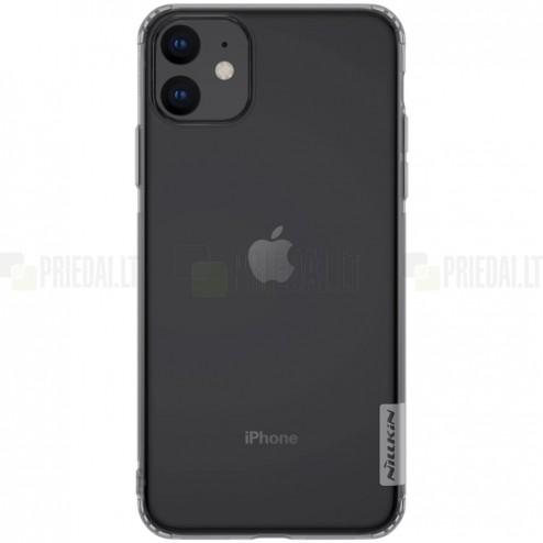 Apple iPhone 11 Nillkin Nature plonas pilkas (permatomas) silikoninis TPU dėklas