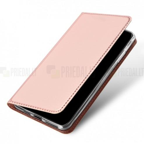 """""""Dux Ducis"""" Skin serijos Apple iPhone 11 Pro Max rožinis odinis atverčiamas dėklas"""