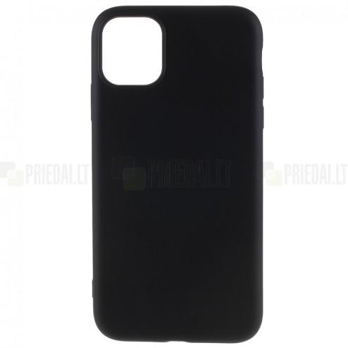 Apple iPhone 11 Pro Max kieto silikono TPU juodas dėklas - nugarėlė