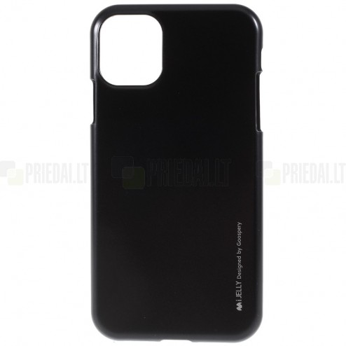 Apple iPhone 11 Pro Max Mercury juodas kieto silikono TPU dėklas - nugarėlė