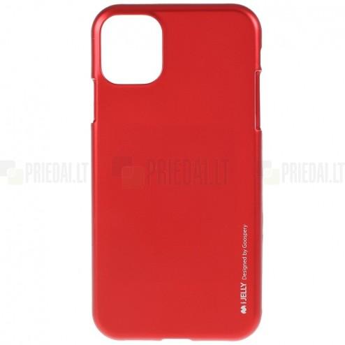 Apple iPhone 11 Pro Max Mercury raudonas kieto silikono TPU dėklas - nugarėlė
