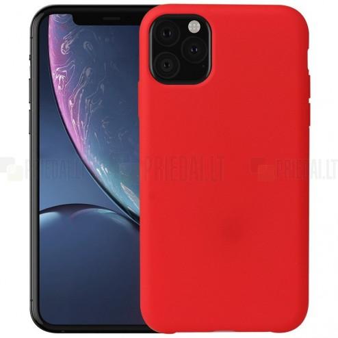 Apple iPhone 11 Pro Max kieto silikono TPU raudonas dėklas - nugarėlė