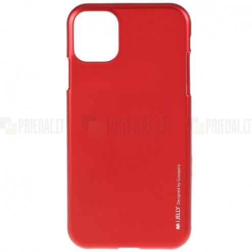Apple iPhone 11 Pro Mercury raudonas kieto silikono TPU dėklas - nugarėlė
