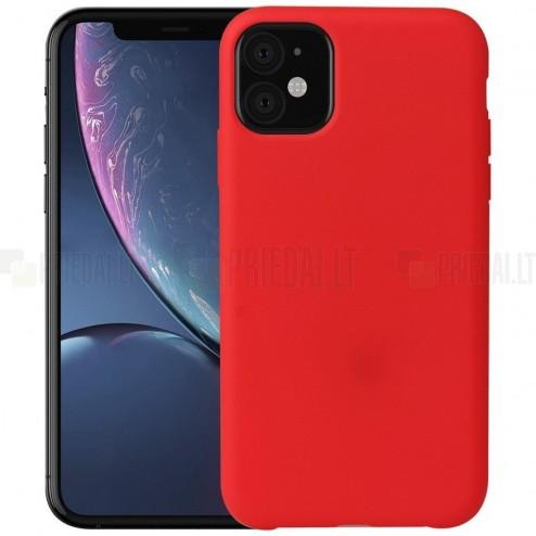 Apple iPhone 11 kieto silikono TPU raudonas dėklas - nugarėlė