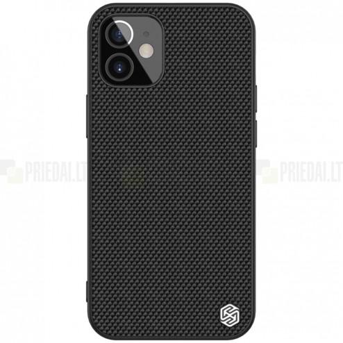 """Apple iPhone 12 Mini """"Nillkin"""" Textured Case juodas dėklas - nugarėlė"""