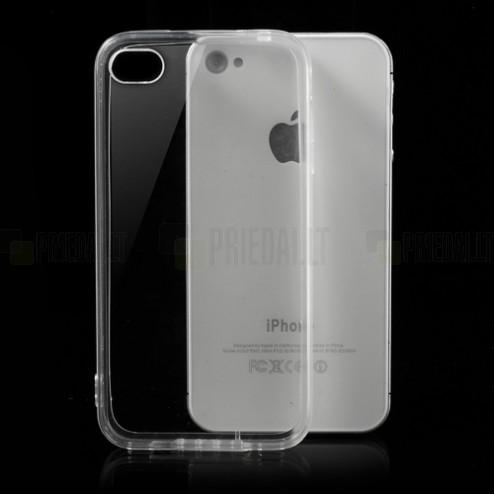 Apple iPhone 4 kieto silikono TPU skaidrus (permatomas) dėklas - nugarėlė