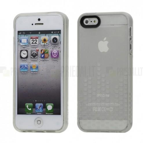 Skaidrus, kieto silikono (TPU) Apple iPhone SE (5, 5s) dėklas (dėkliukas)