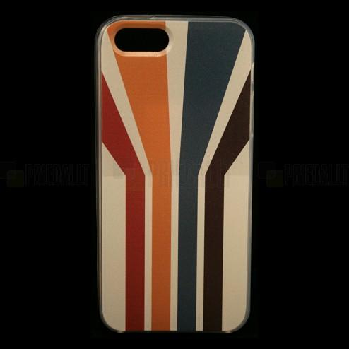 """""""Bullet"""" Apple iPhone SE (5, 5s) kieto silikono TPU dėklas - Striped (Dryžuotas)"""