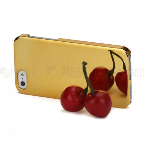 Veidrodinis auksinis Apple iPhone SE (5, 5s) dėklas (dėkliukas)
