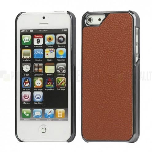 Solidus rudas odinis (dirbtinės odos) Apple iPhone SE (5, 5s) dėklas (dėkliukas)
