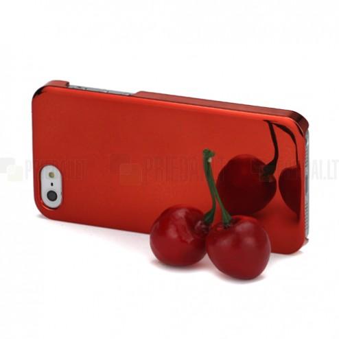 Veidrodinis raudonas Apple iPhone SE (5, 5s) dėklas (dėkliukas)